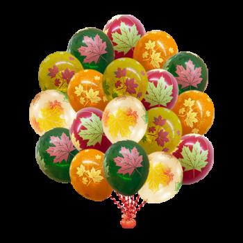Воздушные шары с кленовыми листьями