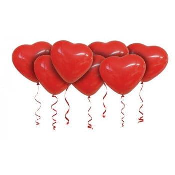 Облако сердечек красные