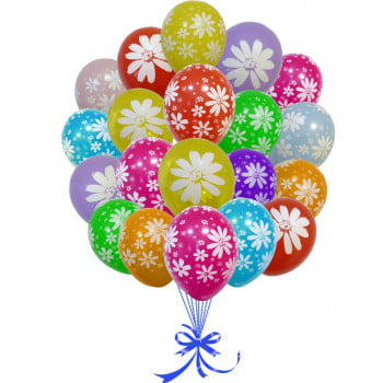 Воздушные шары Ромашки ассорти
