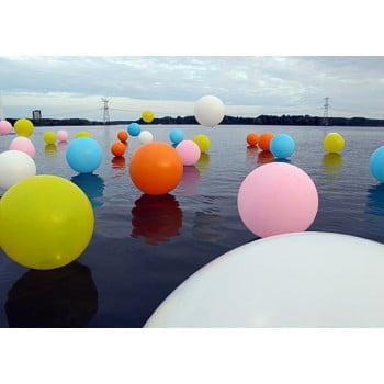 Большие шары с воздухом на пол