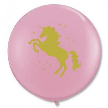 Шар большой Единорог розовый (60 см)