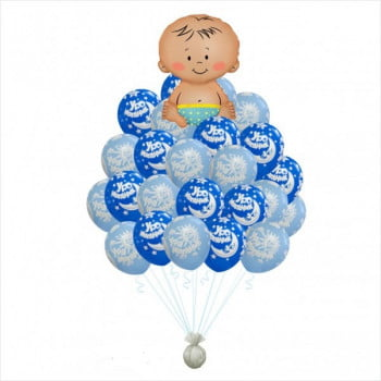 Букет шариков Рождение мальчика