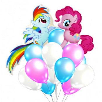 Букет шаров яркие Пони