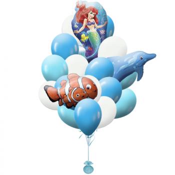 Букет  шаров Русалка и друзья