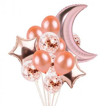 Набор шаров Розовая луна