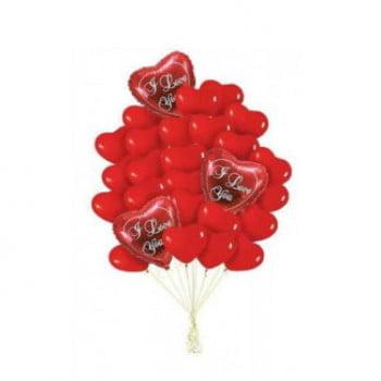 Букет шариков для Любимой (33 шт)