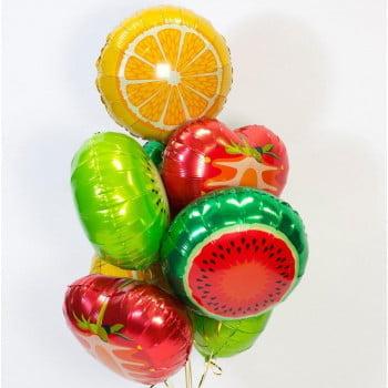 Букет шариков Фруктовый (9 шт)