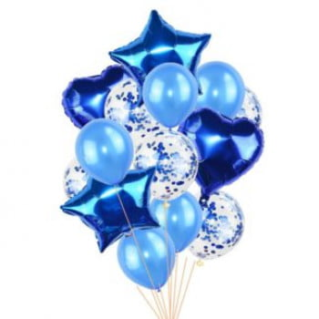 Букет шаров Синий 14 шт