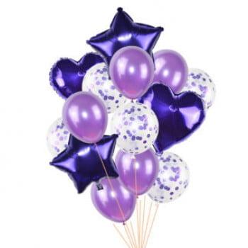 Набор шаров Фиолетовый 14 шт
