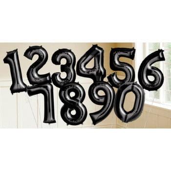 Цифры черные фольгированные