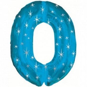 """Шар """"Цифра 0"""" Синий 107 см"""