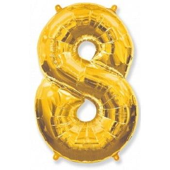 """Шар """"Цифра 8"""" Золото"""