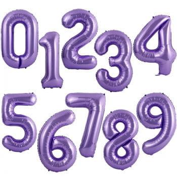 Шар цифра Сиреневая