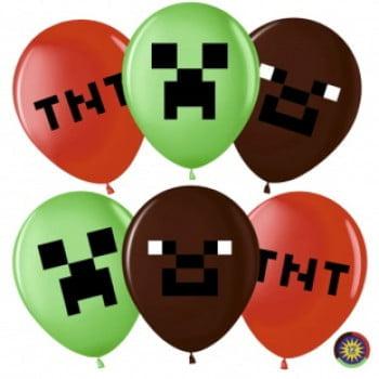 Воздушные шарики Пиксели Майнкрафт
