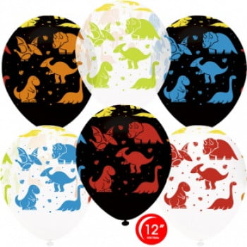 Воздушные шары Яркие Динозаврики