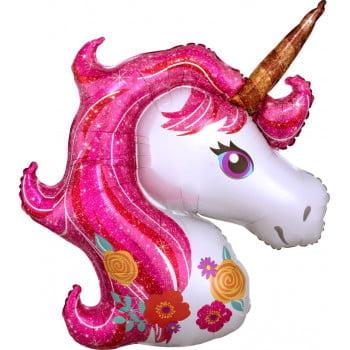 Шар Цветочный Единорог, Розовый