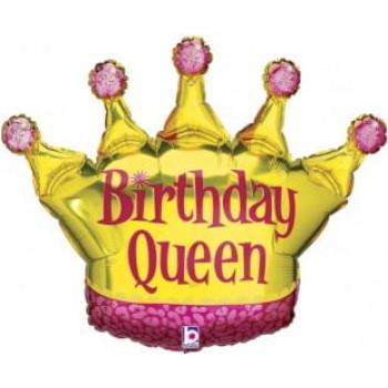 Шар Корона День Рождения Королевы (91 см)