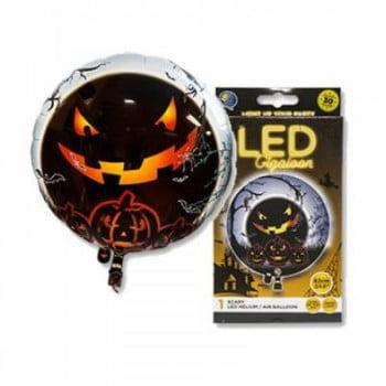 LED Шар с разноцветной подсветкой Хэллоуин с грузиком (65 см)
