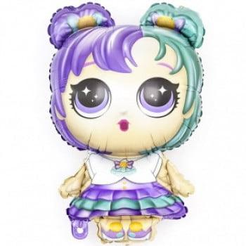 Кукла ЛОЛ разноцветные локоны