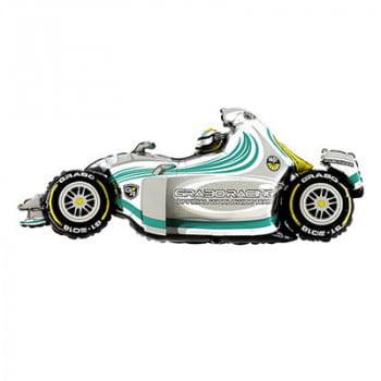 Машина гоночная серая (124см)