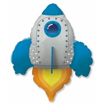 Шар Ракета синяя (76см)