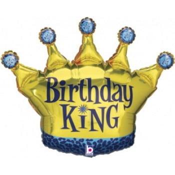 Шар Корона День Рождения Короля (91 см)
