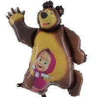 Маша и медведь фольгированный шар