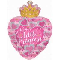 Сердце с короной С днем рождения Принцесса (61 см)
