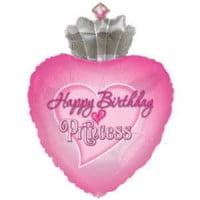 Сердце с днем рождения принцесса (56 см)