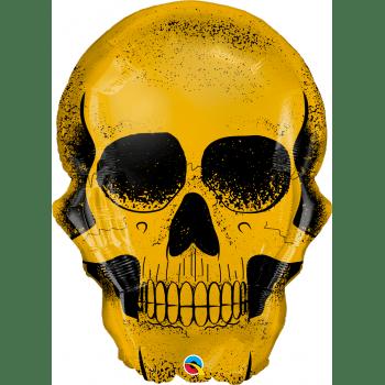 Шар череп золотой