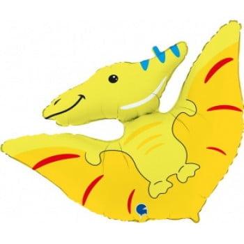 Шар Фигура Динозавр Птеродактиль Желтый 86 см