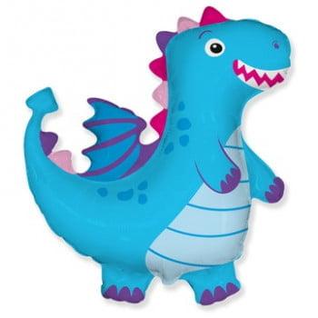 Шар фигура Дракон голубой (92см)