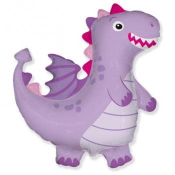 Шар фигура Дракон фиолетовый (92см)