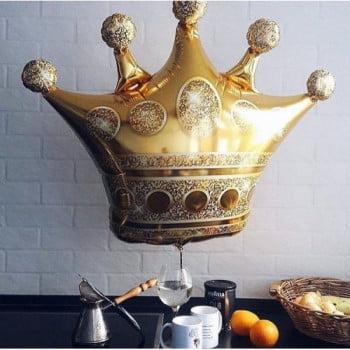 Шар Корона золотая