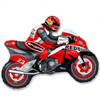 """Шар """"Мотоцикл"""" красный 84 см"""