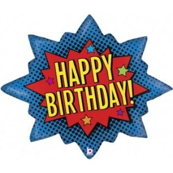 Шар С днём рождения Яркий взрыв (81см)