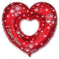 Шар Сердце фольгированное Я тебя Люблю (85см)