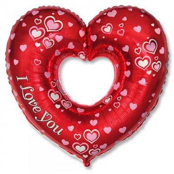 Шар Сердце фольгированное Я тебя Люблю