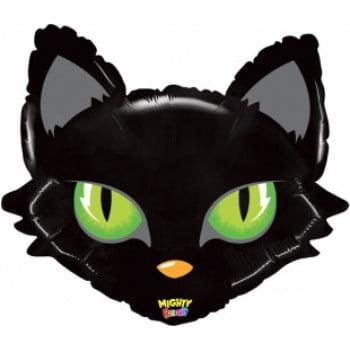 Шар Зеленоглазая кошка, Черный (71 см)