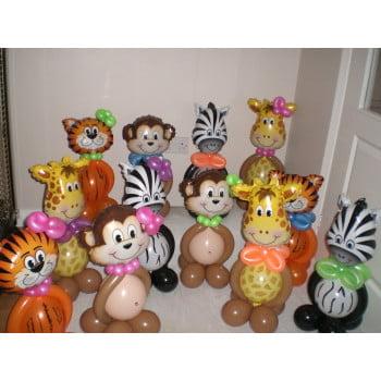 Фигуры из шаров Зоопарк (цена за 1 шт)
