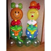 Клоуны из шариков на выбор (1 метр)