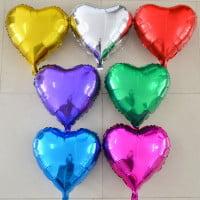 Фольгированные шары Сердца выбор цвета