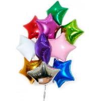 Фольгированные шары Звезды (цвета на выбор)