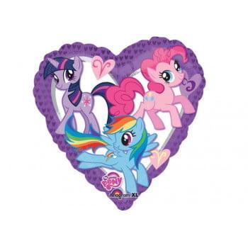 Пони фольгированное сердце