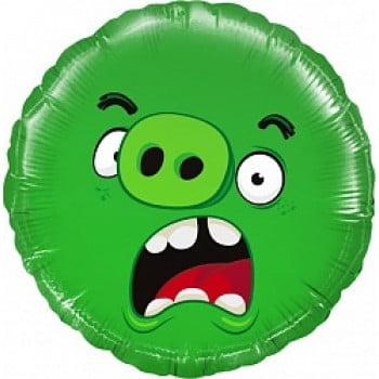 Шар круг Angry Birds Зеленый