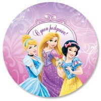 Шар круг Принцессы С днём рождения!