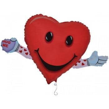Фольгированный шар Сердце Любовь и объятия (104 см)