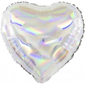 Сердце Перламутровый блеск серебро