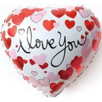 Шар Сердце Я тебя Люблю сердечки белый