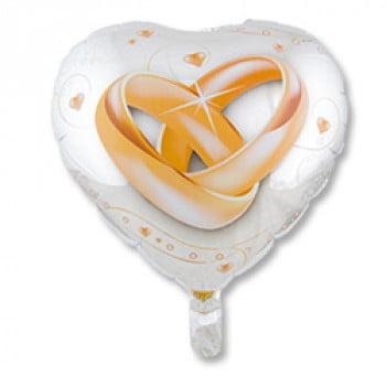 Шар сердце свадебные кольца